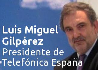 El Garaje de Deusto Business School (Bazkari solasaldia) Telefónica Espainiako presidente Luis Miguel Gilpérezekin