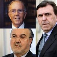 Marcelino Oreja, Pedro Solbes, Jon Azua: