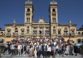 Recibimiento en el Ayuntamiento de San Sebastián a los alumnos internacionales