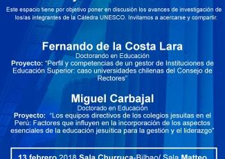 Presentación y discusión de proyectos doctorales