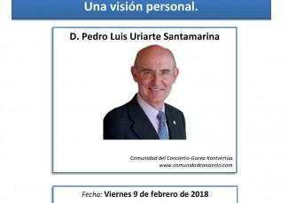 Conferencia de Pedro Luis Uriarte sobre el concierto económico vasco.