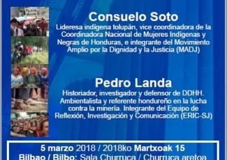 Solasaldiak. Europa-Latinoamerika: Lurraldearen defentsa eta egoera politikoa Hondurasen