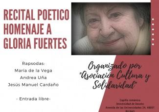 Recital Poético homenaje a Gloria Fuertes