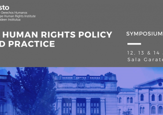 Master Eramus Mundus Human Rights Policy and Practice: Simposio 2018