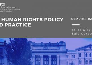 Master Eramus Mundus Human Rights Policy and Practice: Simposio 2018