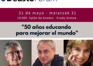 DeustoForum. Ramón Flecha, Nelida Zaitegui y Lourdes Villardón: