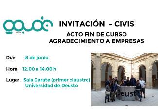 Entrega de diplomas del programa de capacitación laboral CIVIS