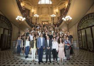 Recepción a los alumnos internacionales en el Ayuntamiento de San Sebastián