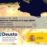 """Conferencia Federico Buyolo: """"Seguridad y desarrollo sostenible en la región MENA"""