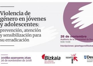 Gizartegune XII. Violencia de género en jovenes y adolescentes: prevención, atención y sensibilización para su erradicación