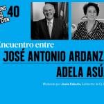 Constitución: 40 años' · Encuentro entre José Antonio Ardanza y Adela Asúa