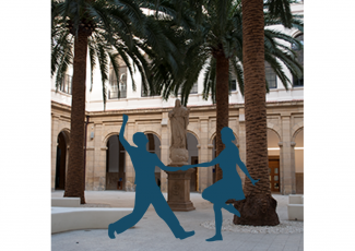 Swing and lindy hop in the cloister