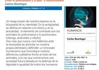 """El profesor Carlos Beorlegui presenta en Deusto su libro """"Entre lo pre-humano y lo pos- o transhumano"""""""