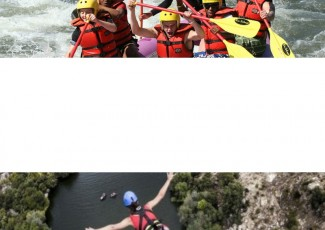 Rafting and bungee jumping