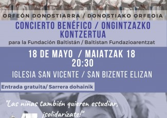 Fundraising concert with the Orfeón Donostiarra for Baltistán Foundation