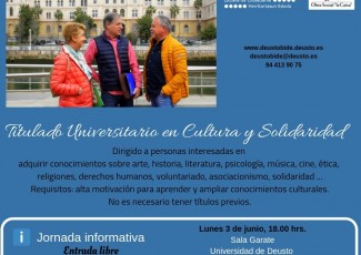 Jornada informativa sobre el programa para adultos Titulado Universitario en Cultura y Solidaridad