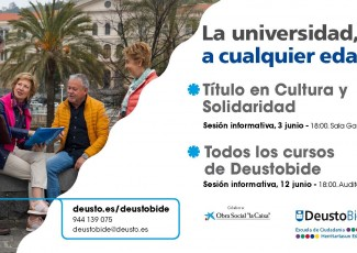 DeustoBide 2019-20: Jornada informativa / Informazio saioa
