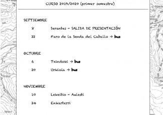 Salida Lekeitio - Aulesti del Grupo de Monte