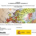 """III Jornada:  """"Seguridad y desarrollo en la vecindad oriental: una mirada desde Europa"""""""