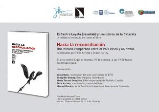 'Hacia la reconciliación' liburuaren aurkezpena