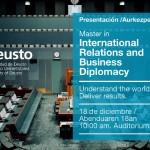 Nazioarteko Harremanetako eta Enpresa Diplomaziako Unibertsitate Masterra