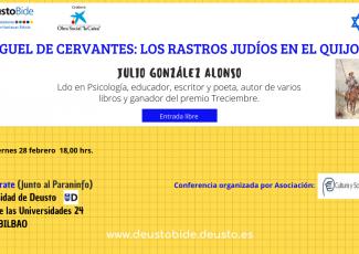 Conferencia sobre los rastros judíos en El Quijote. Julio González Alonso.