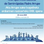 23rd Padre Arrupe International Semi-Fast Chess Open