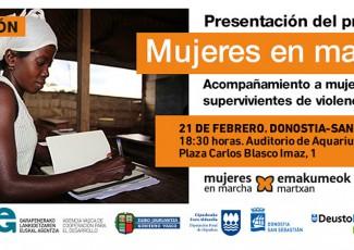 """Presentación del programa """"Mujeres en Marcha"""" de la mano de ALBOAN"""