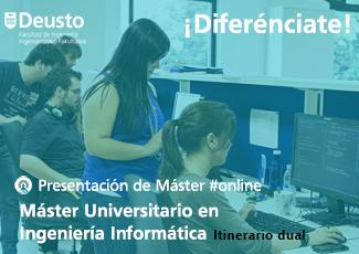 Presentación online Máster en Ingeniería Informática (itinerario dual)
