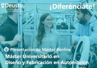 Presentación online Máster en Diseño y Fabricación en Automoción (Dual)