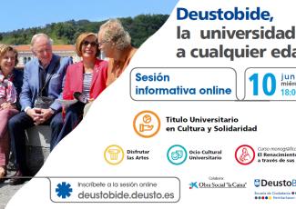 ¡Inscríbete a la jornada on line sobre Deustobide, la universidad a cualquier edad!