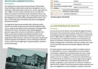 Guided visit to the University of Deusto. European Heritage Seminars