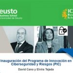 Opening of the Cybersecurity and Risk Innovation Programme (CIP) with David Cano and Elvira Tejada