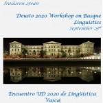 Euskal Hizkuntzalaritza 2020 DUko Jardunaldia