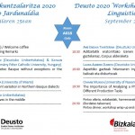 Deusto 2020 Workshop on Basque Linguistics