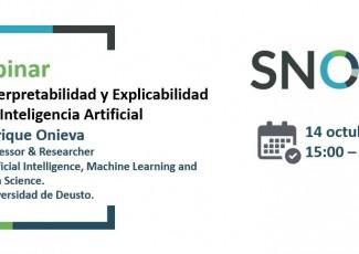 SNOLA Webinar: Interpretability and Explicability in Artificial Intelligence, Enrique Onieva