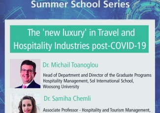 Deusto International Talk - The 'new luxury' in Travel & Hospitality Industries post-COVID19