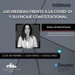 WEBINAR: Las medidas frente a la Covid-19 y su encaje constitucional