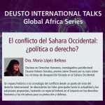 Deusto International Talk - El conflicto del Sahara Occidental: ¿política o derecho?