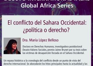 Deusto International Talk - El conflicto del Sahara Occidental: ¿política o derecho?