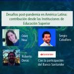 Deusto International Talk - Desafíos post-pandemia en América Latina: contribución desde las Instituciones de Educación Superior